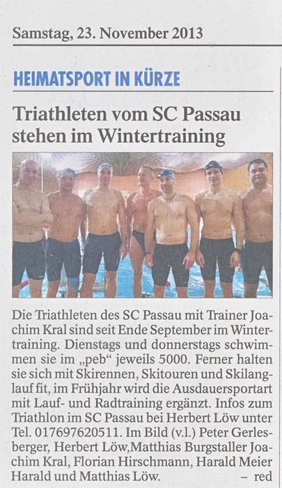 Triathleten Passau